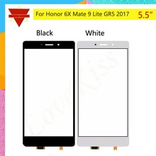 "10Pcs  lot Yeni 5.5 ""Huawei Onur Için 6X Mate 9 Lite GR5 2017 BLL-L21 BLL-L22 Dokunmatik Ekran Dokunmatik Panel sensörü Sayısallaştırıcı Ön Cam"