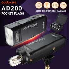 Godox AD200 Flash de poche photographie stroboscope Speedlite 200W avec TTL li-batterie pour Sony Canon Nikon caméra Flash