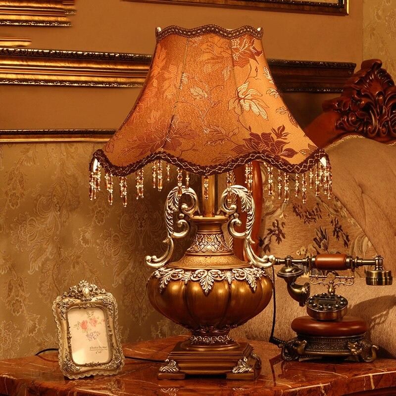 Lámpara De Mesa para dormitorio, pantalla De tela, decoración para sala De...