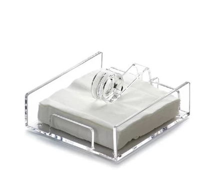 Tamanho pequeno Plexiglass Acrílico Guardanapo Titular Bandeja Para 12*12 cm Removível Papel Tissue