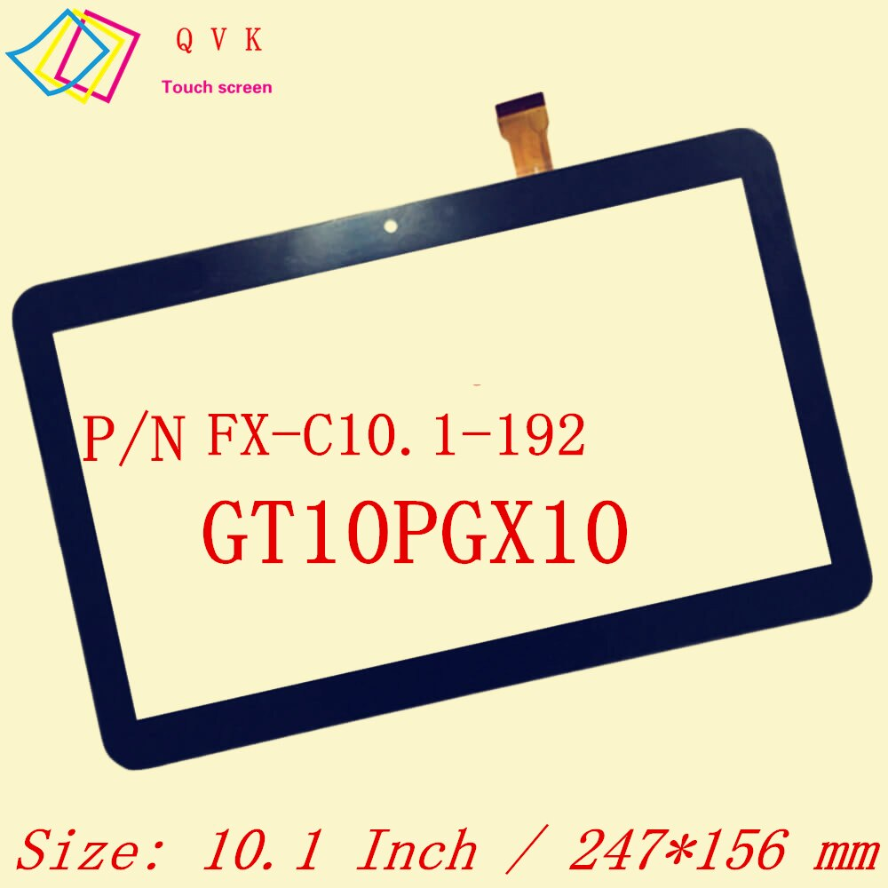 Negro, 10,1 pulgadas, p/n, FX-C10.1-192, GT10PGX10, RP-400A-10.1-FPC-A3, panel de pantalla táctil de XLD1017-V0, Envío Gratis