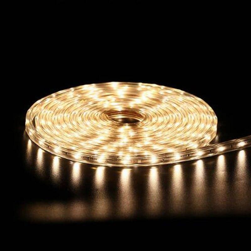 Tira de luz LED de 220V SMD 5050 cinta de diodo LED impermeable 5M 10M 15M 20M 25M DIY guirnalda de luz de fondo lámpara para mueble de cocina