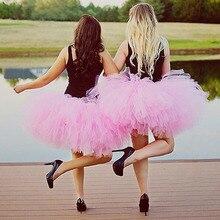 Solid Pink Adult Tutu Cake Smash Bachelorette Tutus Mommy and Me Tulle Skirt Cute Ball Gown Ballet Dancer Midi Skirt Saias Jupe