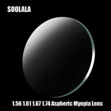 SOOLALA 1.56 1.61 1.67 1.74 Prescription CR-39 Resin Aspheric Glasses Lenses Myopia Hyperopia Presby