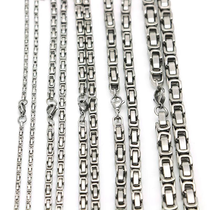 Мужская цепь из нержавеющей стали 2,6 мм, 4 мм, 5 мм, 6 мм, 8 мм, серебряного цвета, 316, 22 дюйма
