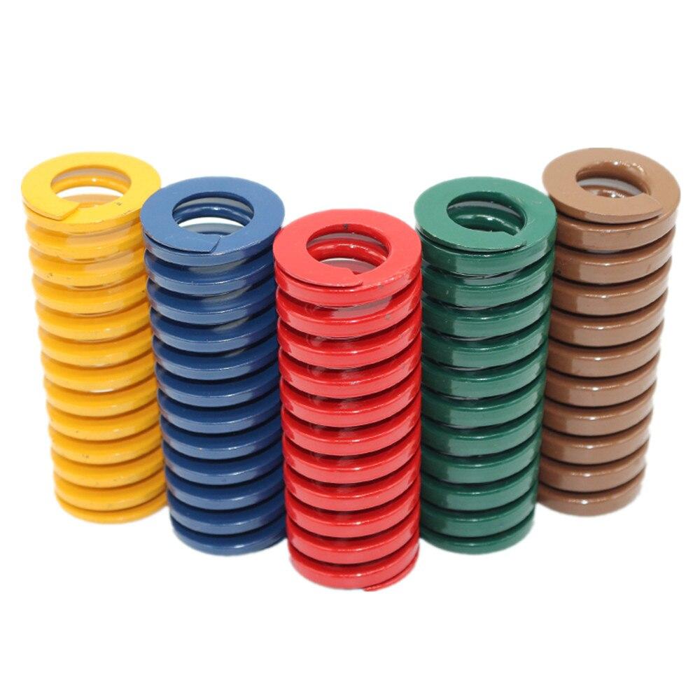 DuoWeiSi 3D طابعة أجزاء 100 قطعة/الوحدة M10 * 50 العفن الربيع 5 ألوان 65MN المواد القطر الخارجي 10 مللي متر طول 50 مللي متر D10 5 سنتيمتر الربيع