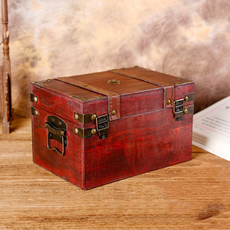 Fabricante original de fuentes de madera de embalaje artesanal personalizado para caja de Babao caja de madera Retro Para el hogar