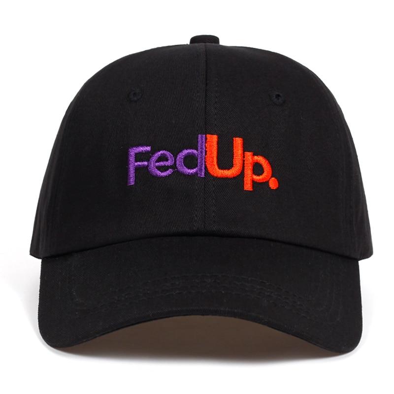 FedUP. stickerei papa hut Baumwolle % Baseball Caps Für Männer Frauen Einstellbare Hip Hop snapback golf kappe hüte Knochen Garros Casquette