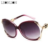 leonlion 2021 fashion big frame sunglasses women luxury sun glasses for women travel classic vintage ladies oculos de sol gafas
