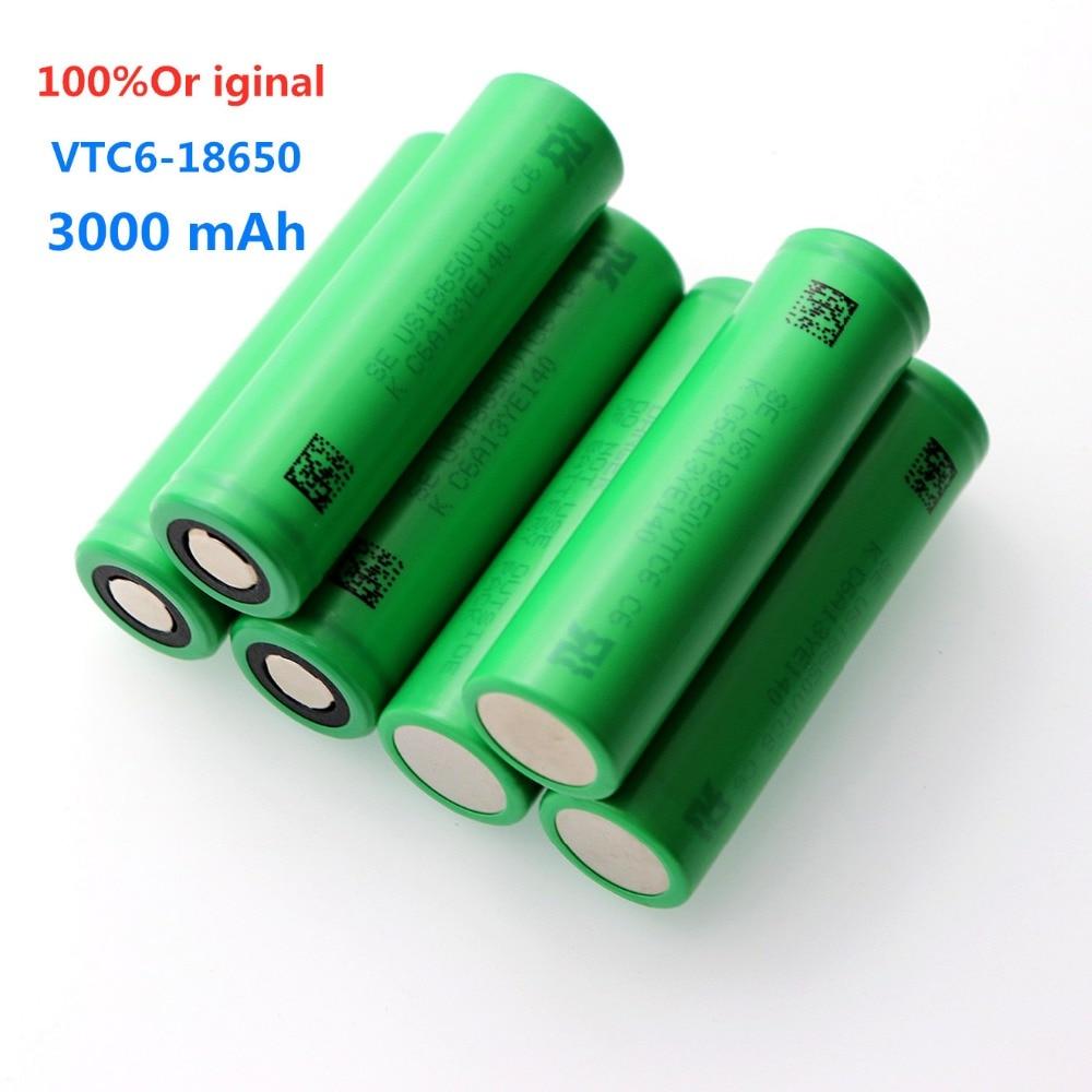 100% оригинал VTC6 3,7 V 3000 MAH литий-ионная аккумуляторная батарея 18650 для SONY us18650 vtc6 3000mah Игрушки Инструменты фонарик