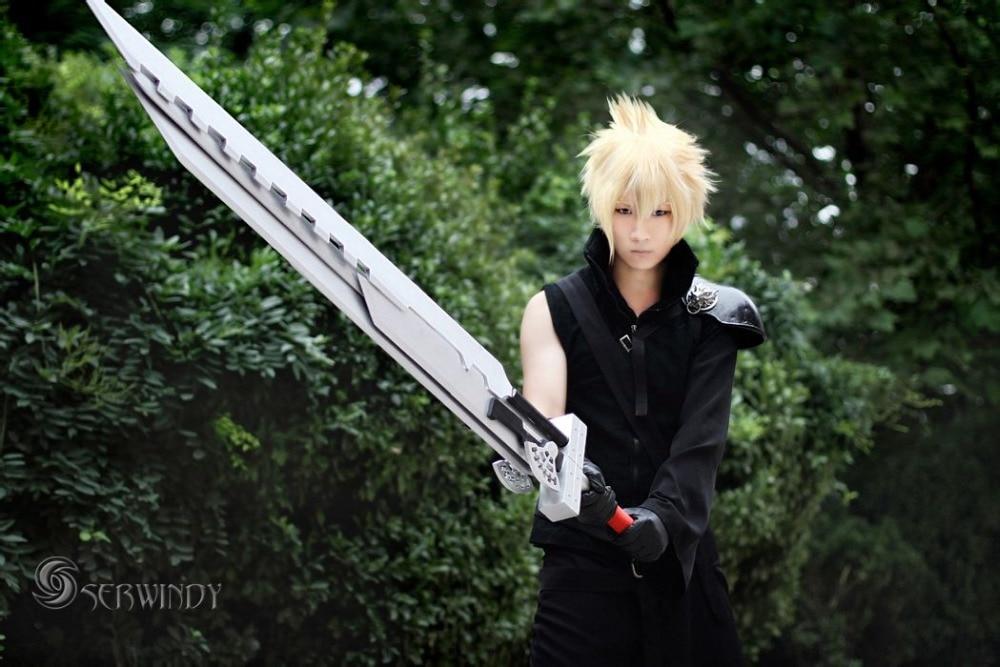 Final Fantasy VII Final Fantasy Cloud Strife 7 02 coo uniforme preto cos cosplay traje para o menino