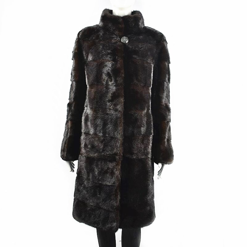 2020European women's natural mink fur coats Real mink fur coats coat lengths to remove Winter warm fashion High street style