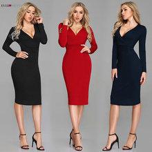 Sexy rouge robes de Cocktail 2019 jamais jolie manches longues hiver Style robe formelle sirène genou longueur pas cher Vestido Coctel Corto