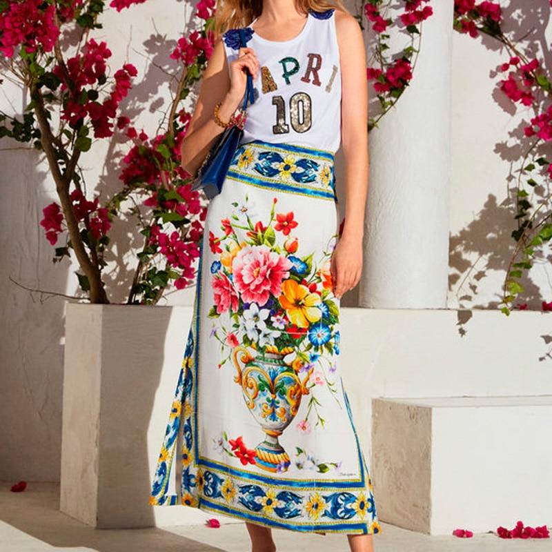 88X145cm Blue Majolica Blue White Porcelain Imitate Silk Satin Polyester Fabric for Woman Girl Summer Dress Skirt Sewing