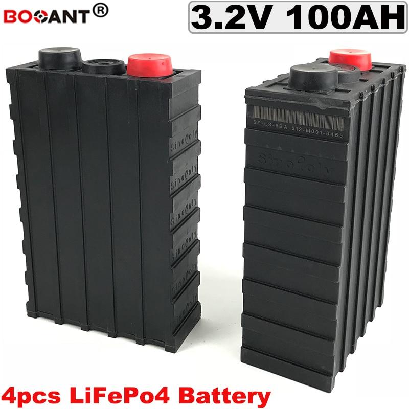 4 Pcs/Lot 3.2 V 100Ah LiFePO4 batterie 3C taux de décharge pour vélo électrique/EV/système solaire batterie au Lithium 100AH livraison gratuite