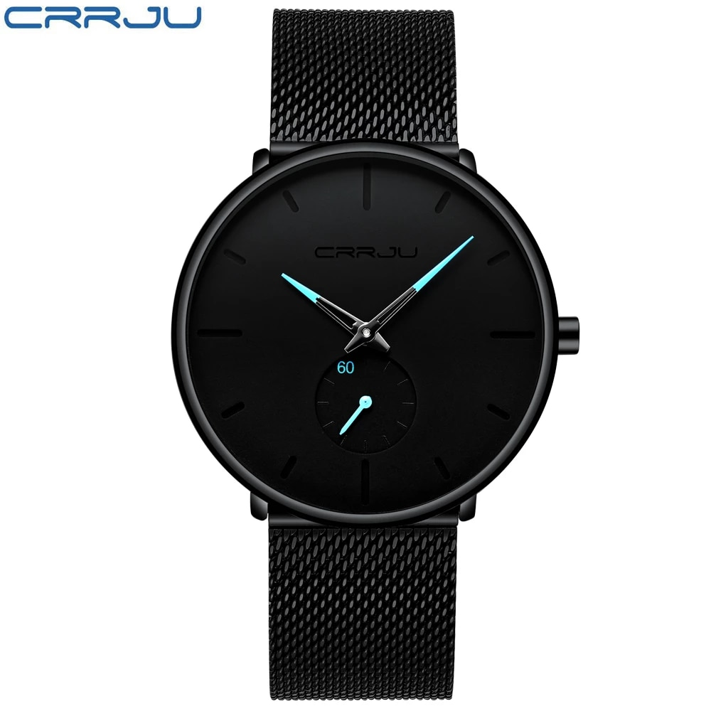 Crrju Fashion Top Brand Mens Watches Luxury Quartz Watch Men Casual Slim Mesh Steel Waterproof Sport Watch Relogio Masculino Quartz Watches Aliexpress
