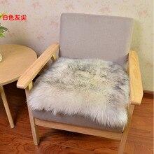 MUZZI 100% real Sheepskin Pure wool felt  cushion sofa cushion slip Four Seasons wool cushion pad thicker Sofa blank