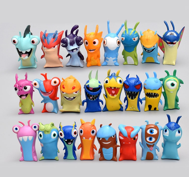 24 unids/set anime nuevo Slugterra figuras de acción de juguete 5cm monster animal modelo mini muñecas de PVC regalo de decoración