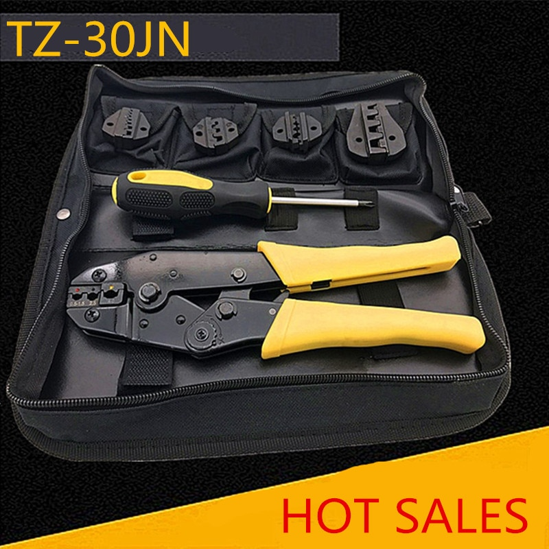 hs 625wfl crimping pliers for insulated non insulated ferrules tube terminals self adjusting 6 25mm2 10 3awg tools Crimping pliers with35WFB/A10/26TW/30J/03B Jaws for insulated terminals and non-insulated ferrules and Tab receptacles Hand tool