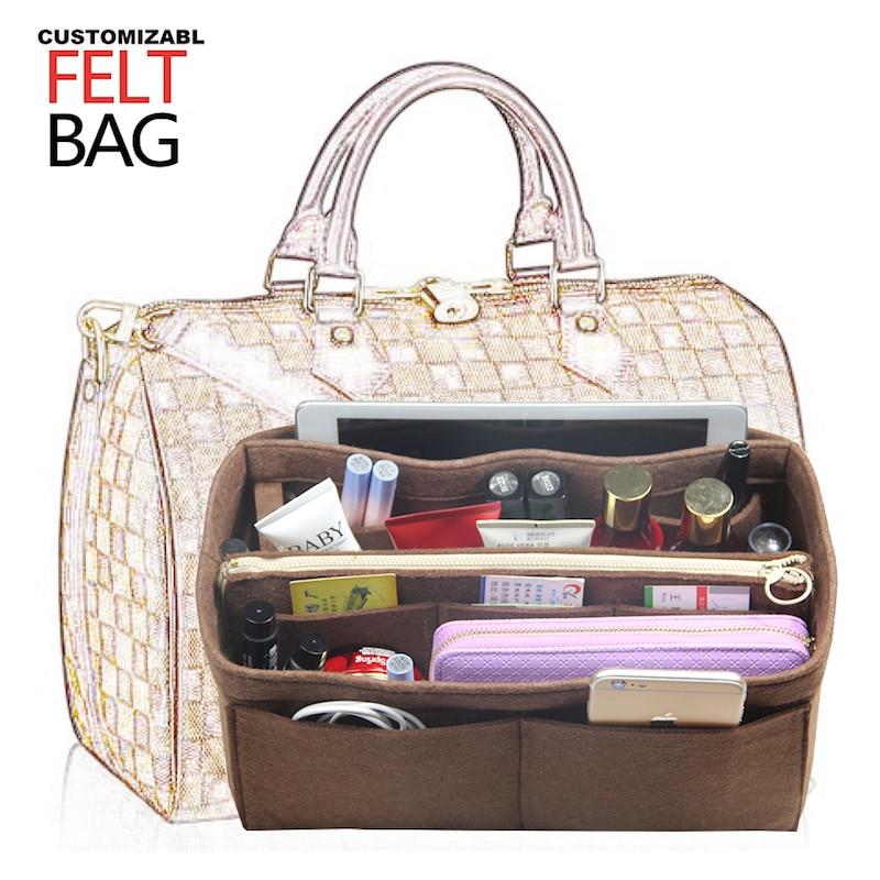 Factory Customizable Speedy25 30 35 40 3MM Felt Insert Bag Organizer Purse Handbag in