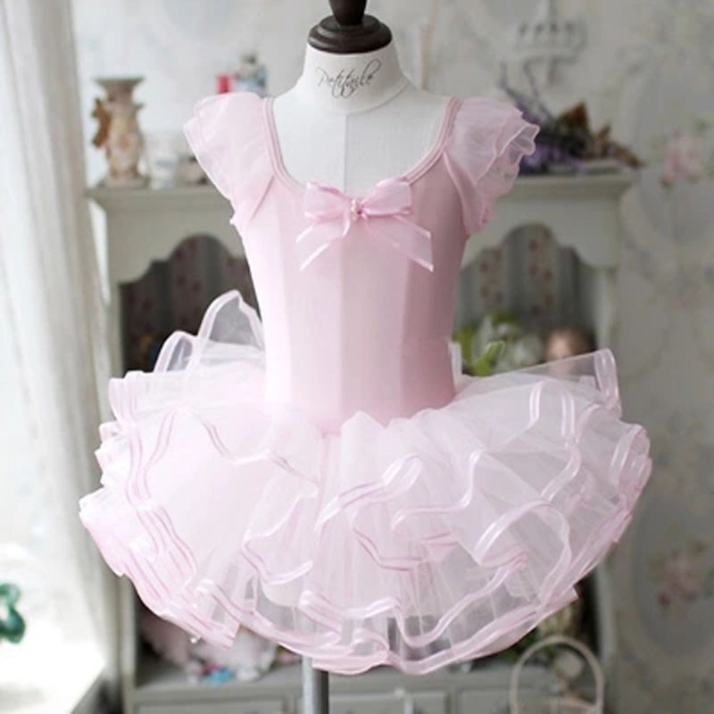 Niños algodón mariposa de lentejuelas profesional Ballet Tutu gimnasia leotardo niña baile traje de chaleco bebé Tutu vestido