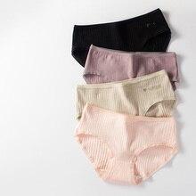 3 unids/lote de ropa interior Sexy para mujer, bragas nuevas de algodón para mujer, bragas para niñas, ropa interior, lencería, Tanga