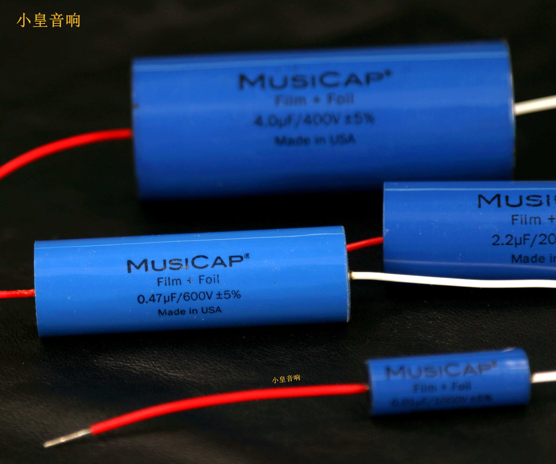 1lot/2pcs American original MusiCap 0.01UF-5UF speaker divider capacitor axial capacitor  Foil Polypropylene free shipping