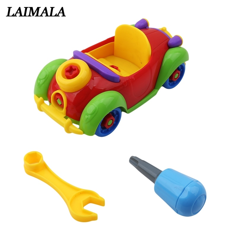 New Arrive Baby Plastic Car Aircraft Toy Disassembly Assembly Classic Cars Toys Brand Children Gifts