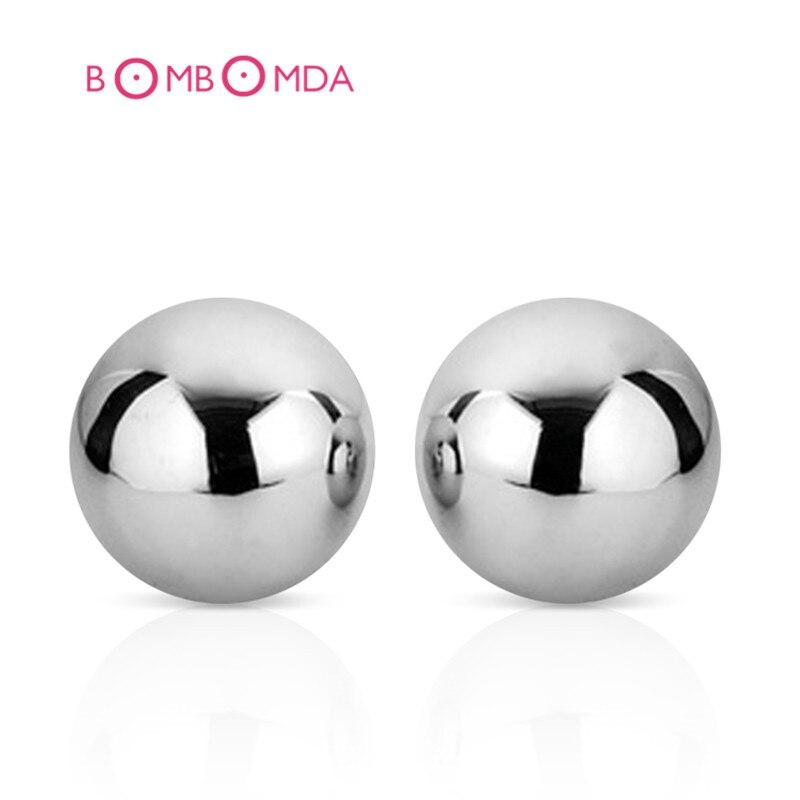 Esferas de Aço Inoxidável Bola Vaginal Paixão Sólida Avançado Instrutor Ben Wa Balls Kegel Vagina Brinquedo Do Sexo Para Mulheres Produtos Do Sexo