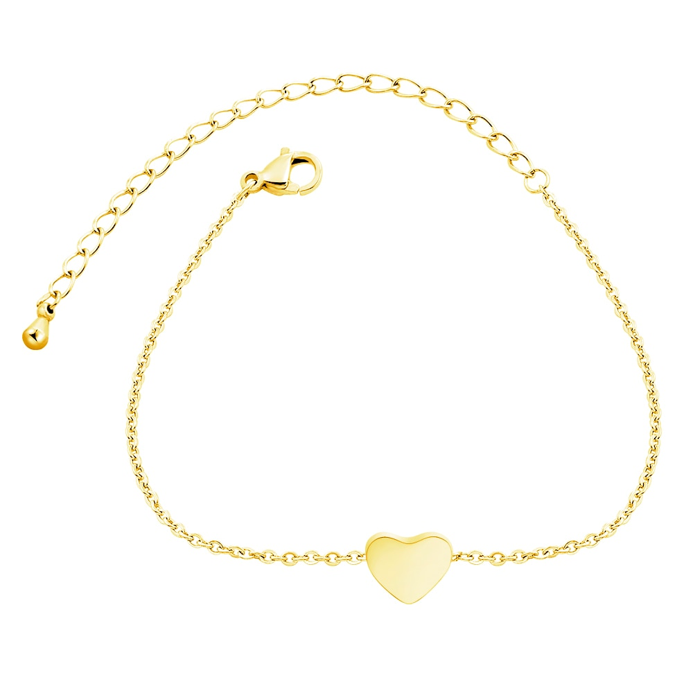 Delicado Corazón de melocotón pulsera de acero inoxidable romántica pareja dulce amor amistad brazaletes pulseras para mujeres dama de honor regalos