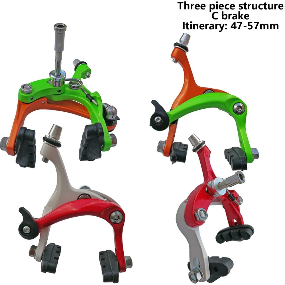 Juego de pinzas de freno de bicicleta de aleación de carretera MI. XIM 47-57mm Reach, freno delantero trasero de bicicleta, freno de bicicleta de resina de 55mm