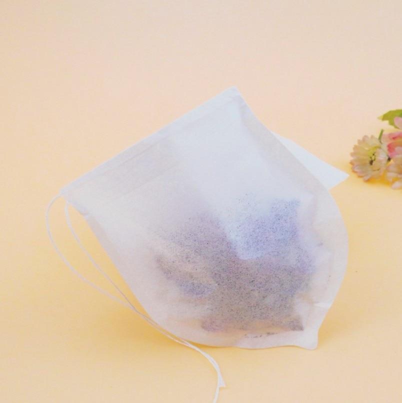 قطرة شكل الشاي أكياس تصفية المساعد على التحلل مصفاة ورقة تيباج الحرارة ختم أكياس مع سلسلة ل عشب فضفاض أوراق الشاي 500 قطعة/الوحدة
