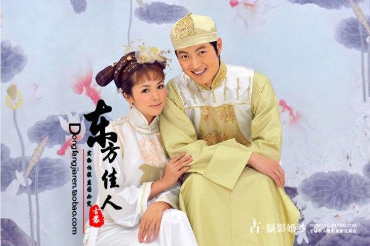 Shi quan jiu mei 2 nova dinastia qing príncipe e princesa conjuntos de fantasia para os amantes ou trajes de casamento casal