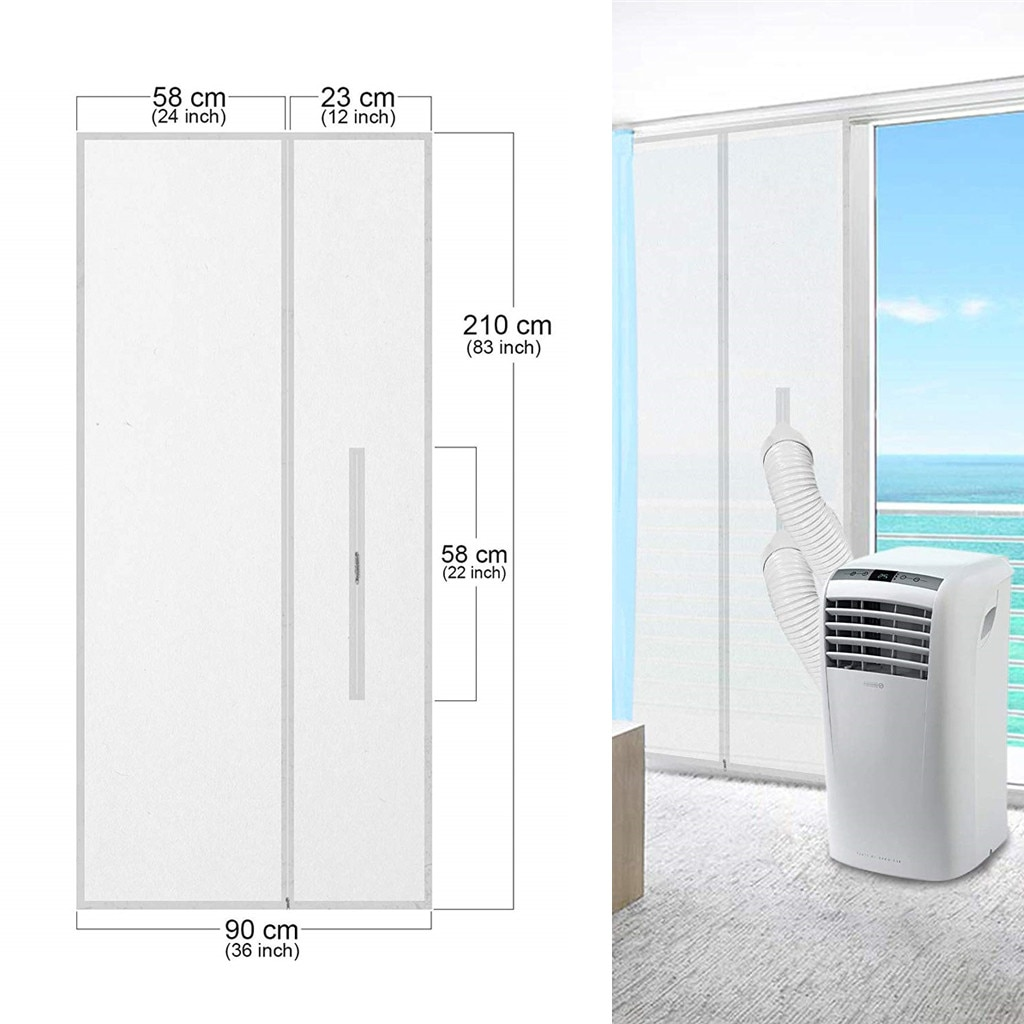 Deflector de sellado de tela suave para aire acondicionado móvil, sello de...