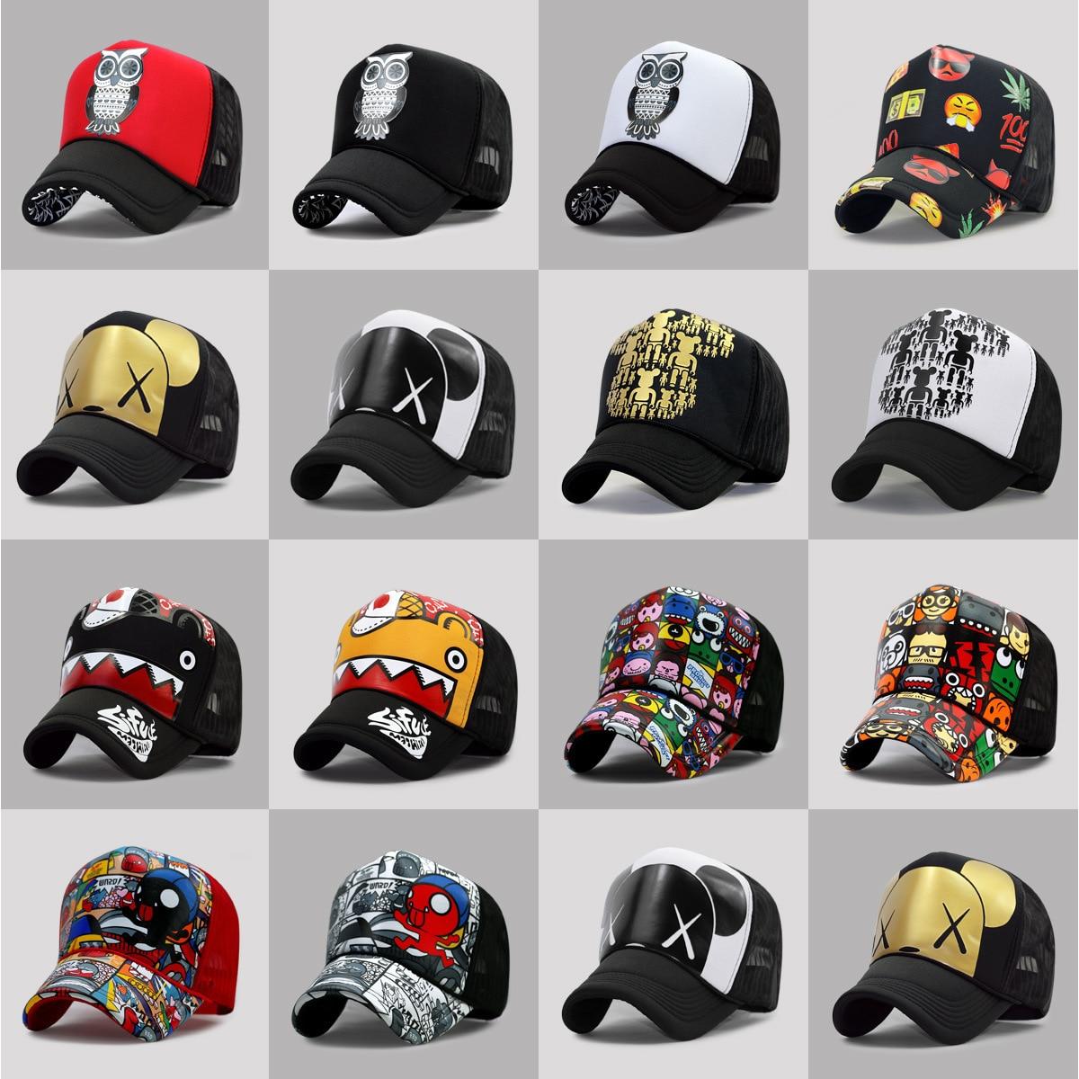 Оптовая продажа, летние мужские шляпы от солнца для взрослых, крутые хип-хоп панк-рок кепки для грузовиков, женские модные сетчатые бейсболки