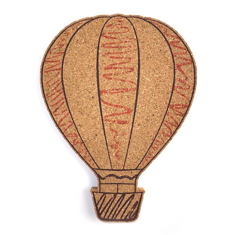 Fire Balloon DIY Cork Board Bulletin Board Message Board Soft Wood Wall Board Printed Cork Wood With Sticker