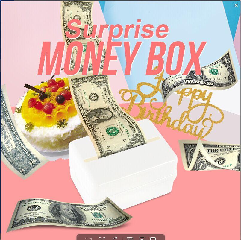 Toys Napkin Banknote Box Tissue Box Surprise Money Box Cake 6 Inch Cake Box Birthday Baking Jewelry Cake Decoration Pull Money