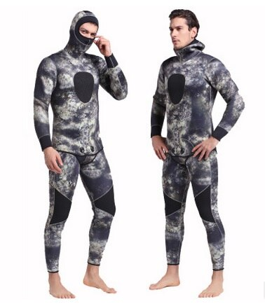 5MM Neoprene For Men Spearfishing Wet Suit Surf Diving Equipment Split Suits Men Warm SnorkelingRash Guard Scuba Diving Swimwear