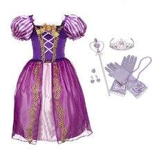 Robe pour filles   Tenue princesse Cosplay, design de dessin animé, pour fête danniversaire, Elsa, Anna, vêtements pour enfants