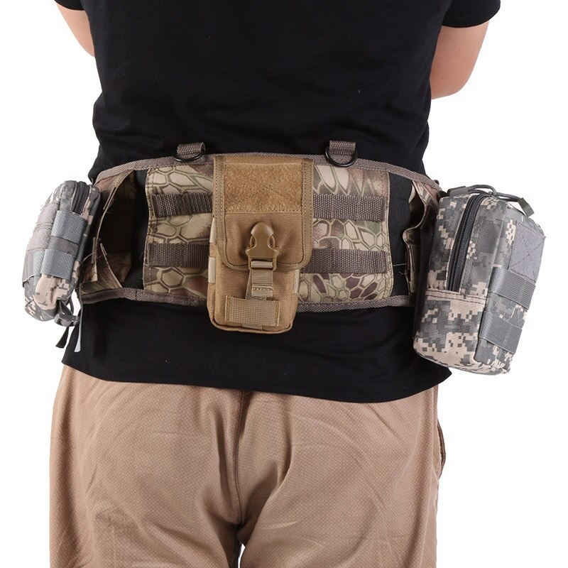 Bolso de cintura militar táctico de deporte al aire libre para hombre bolsa de cintura funcional en forma de H