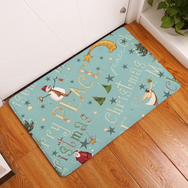 CAMMITEVER Navidad muñeco de nieve árboles ciervo trineo dormitorio alfombra, la personalidad de la sala de estar alfombra personalizada, Alfombra de acrílico