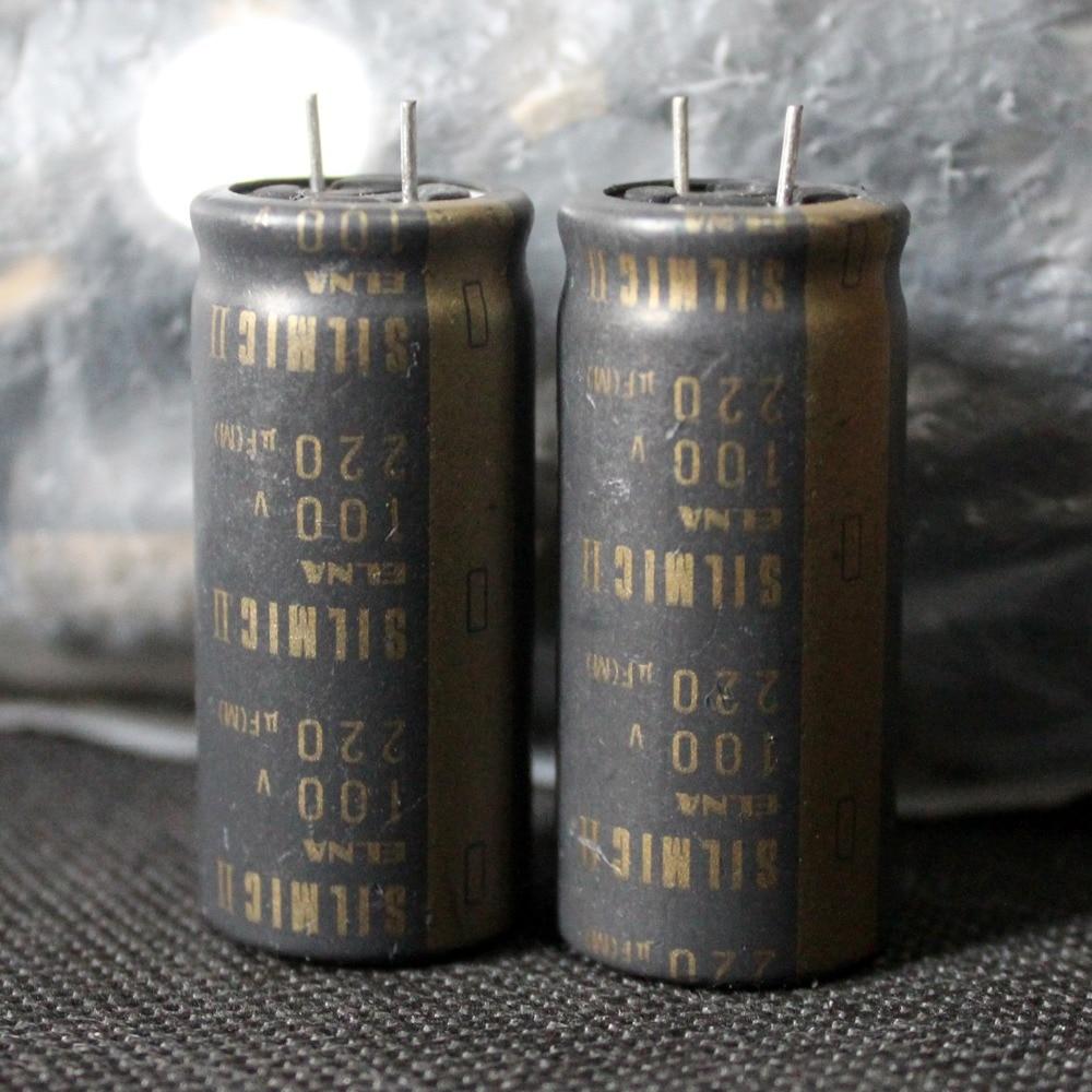 Elna de Japón SILMIC II 220 uF/100 de oro V exfoliante electrolítico de audio condensador