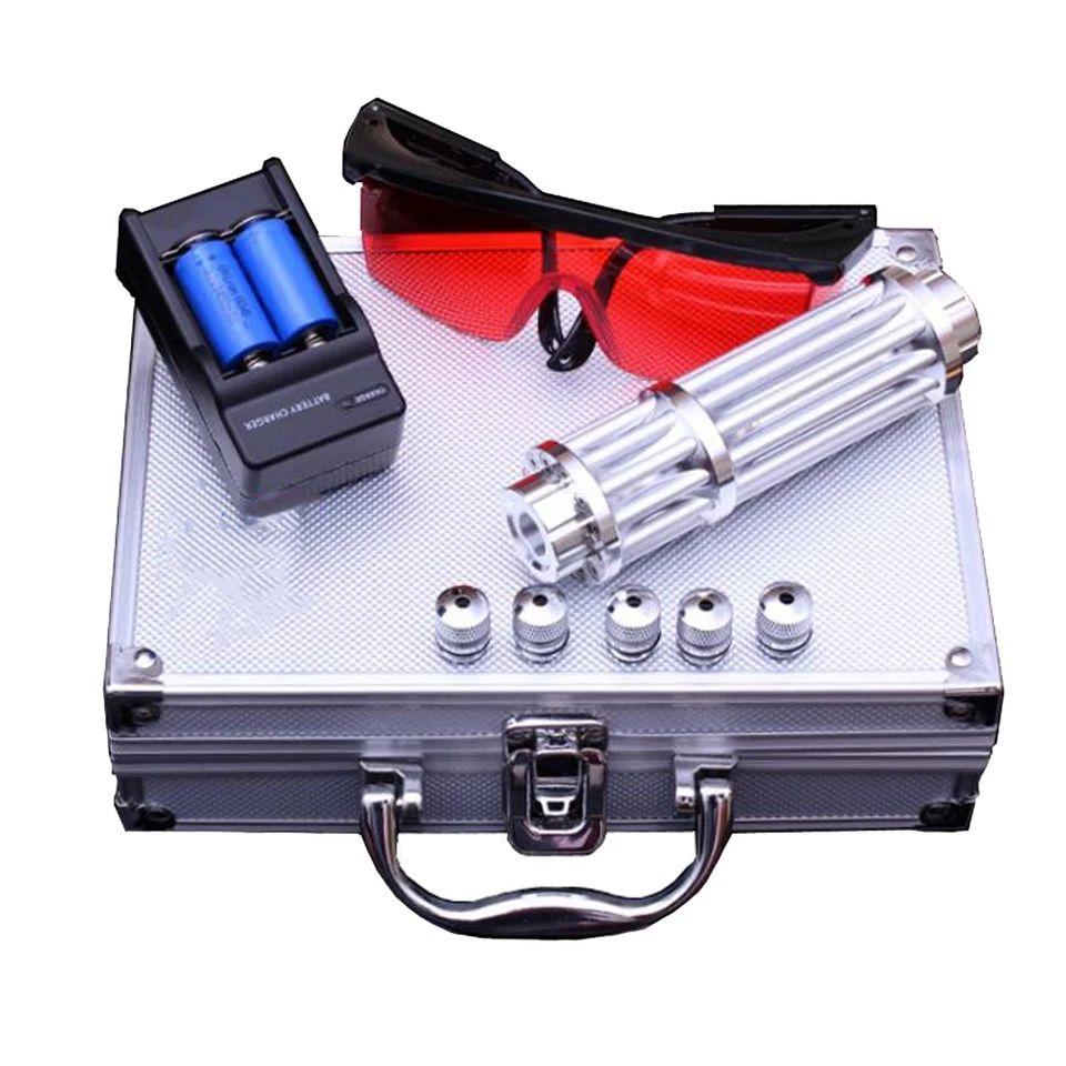 YX-017 de alta potencia 450nm puntero láser azul pluma láser para quemar soldadura con tapas estrelladas Cañón Láser pistola láser