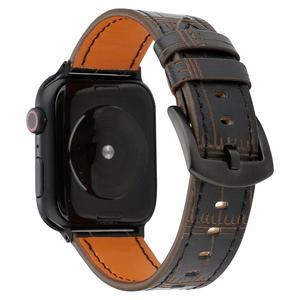 Premium Leather Breathable Bracelet Replacement strap For apple watch 4 44/40mm bamboo wristband for Iwatch Series 3 2 1 42/38mm