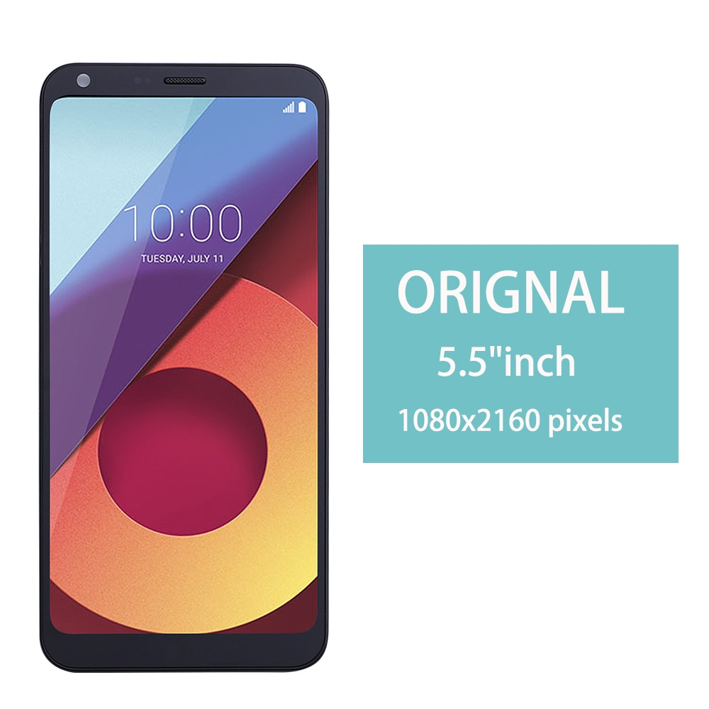 Pantalla LCD de 5,5 pulgadas, Original para LG Q6 LG-M700 M700 M700A US700 M700H M703 M700Y + MONTAJE DE digitalizador con pantalla táctil con marco