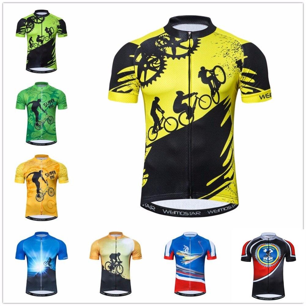 Jersey para Ciclismo al aire libre, Ropa para Ciclismo para hombre, Ropa para bicicleta, Ropa para Ciclismo, maillot, carretera, MTB, camiseta para bicicleta de montaña 2019 amarilla