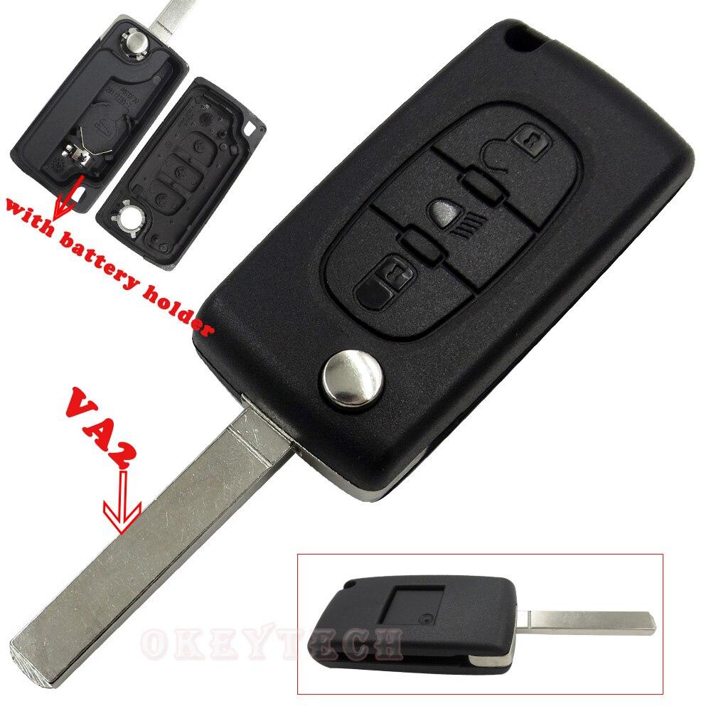 Folding Flip Key car key Shell for Citroen key for Citroen c4 c3 c5 xsara picasso berlingo c8 auto Switchblade key case Remote