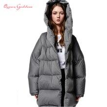 Hiver court cocon type manteau Simple style femmes chaud doudoune avec capuche épaissir nouvelle liste parkas grande taille grande outwear