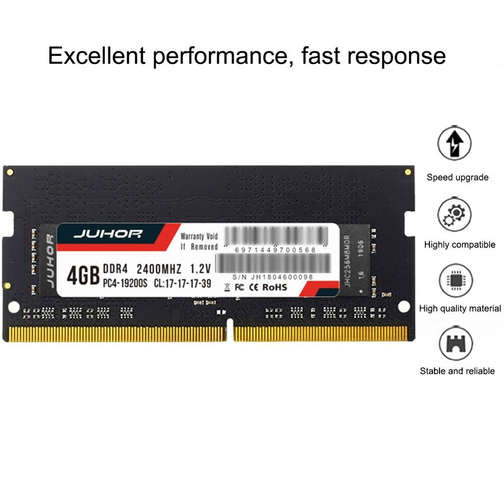 Ram DDR4 DDR3 DDR3L 4GB/8GB 1600/2400/2666/2133MHZ interfaz tipo 260 pines voltaje de la memoria 1,2 V memoria ram para portátil Notebook nuevo