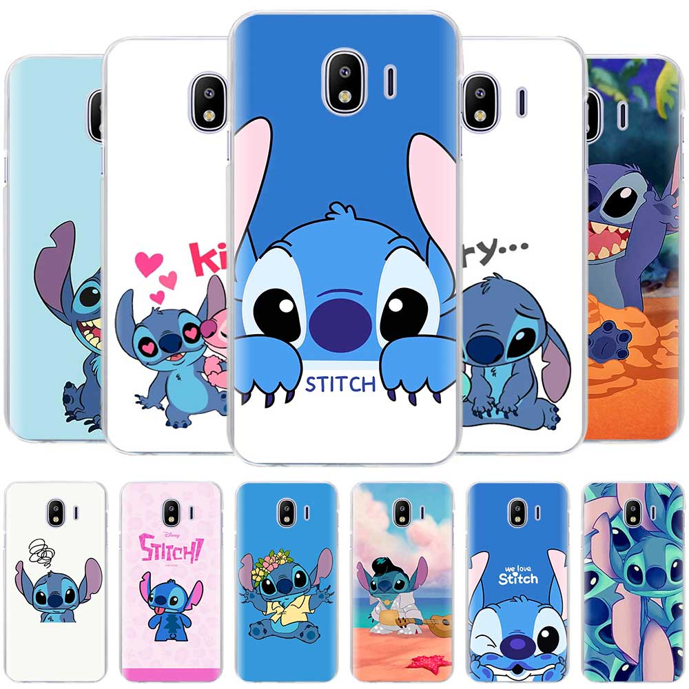 Cute Cartoon Stich Cases for Samsung Galaxy J4 Plus J6 Plus J8 2018 J3 J5 J7 2017 J5 Prime hard Housing Cover